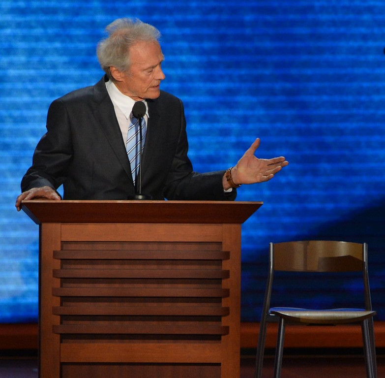 """. <p>8. CLINT EASTWOOD  <p>Cuts off conversation with an empty chair to save a choking man�s life. (unranked) <p><b><a href=\'http://www.twincities.com/breakingnews/ci_25085089/eastwood-saves-tournament-director-from-choking\' target=\""""_blank\""""> HUH?</a></b> <p>    (Stan Honda/AFP/GettyImages)"""