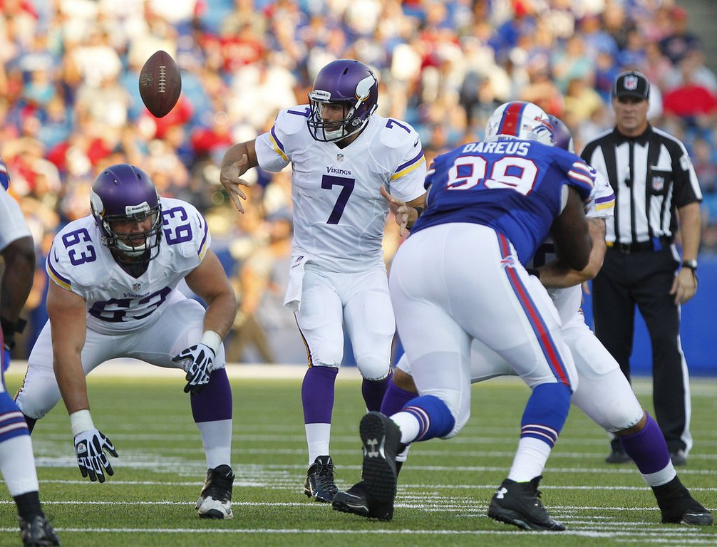 """. <p>4. MINNESOTA VIKINGS <p>Will be every bit as mediocre in Metrodome as they are in Madden 25. (1) <p><b><a href=\'http://www.twincities.com/vikings/ci_23892049/christian-ponder-vikings-quarterback-near-bottom-madden-25\' target=\""""_blank\""""> HUH?</a></b> <p>    (AP Photo/Bill Wippert)"""
