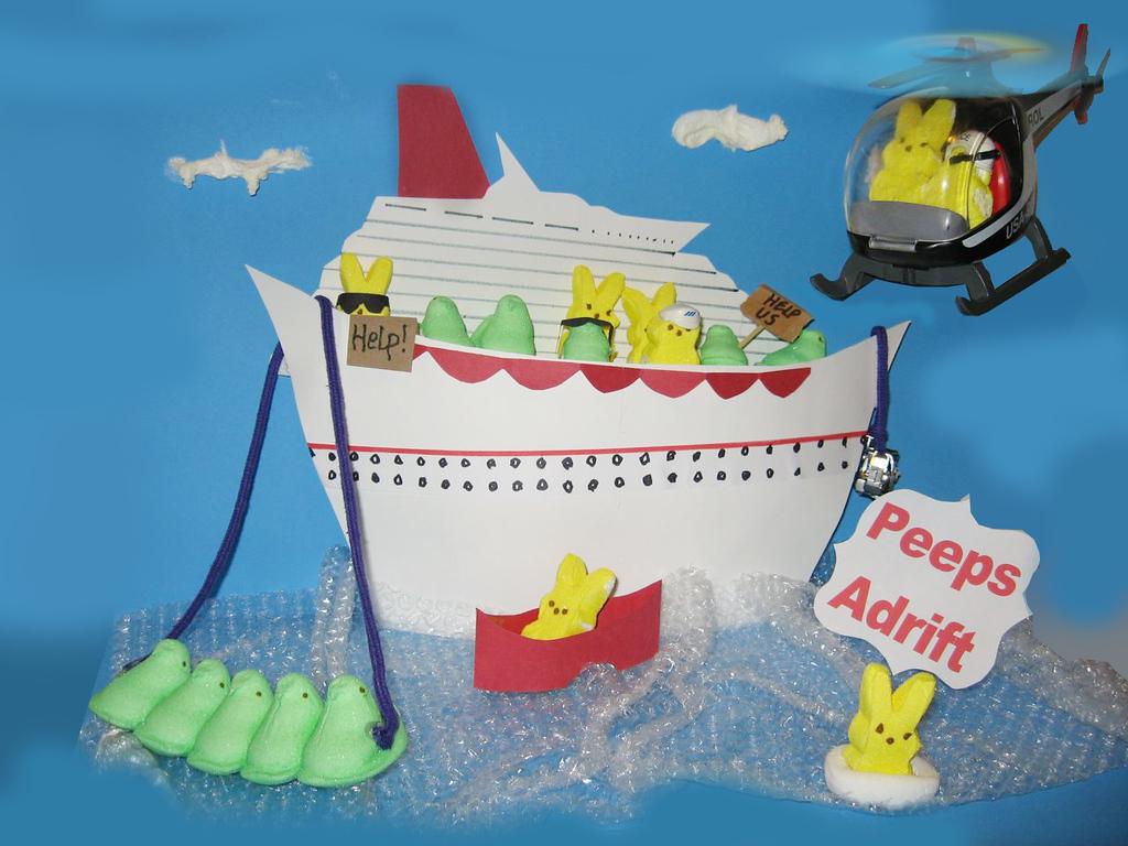 """. \""""Peeps Adrift,\"""" by Dave Brynestad, Stillwater"""