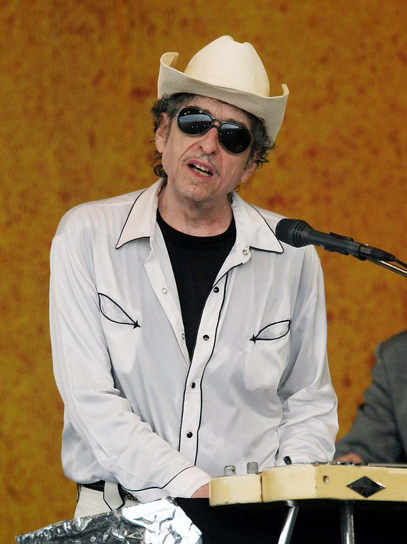 . 2006: Bob Dylan performs during the 2006 New Orleans Jazz and Heritage Festival in New Orleans, in this April 28, 2006, file photo. (AP Photo/Jeff Christensen/FILE)