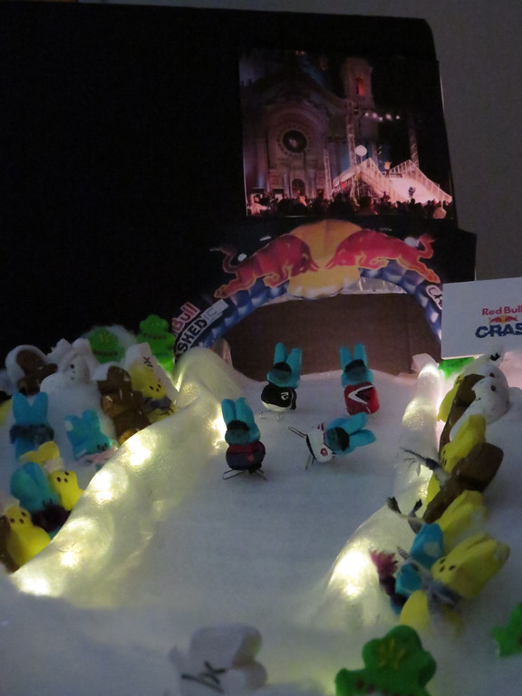 ". ""Crashed Ice Peeps Style,\"" by Karen Steiner, St. Paul"