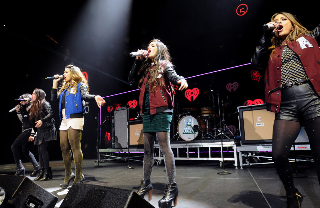 """. Fifth Harmony performs at Jingle Ball. The American girl group formed on the second season of \""""The X Factor.\""""   (Pioneer Press: Chris Polydoroff)"""