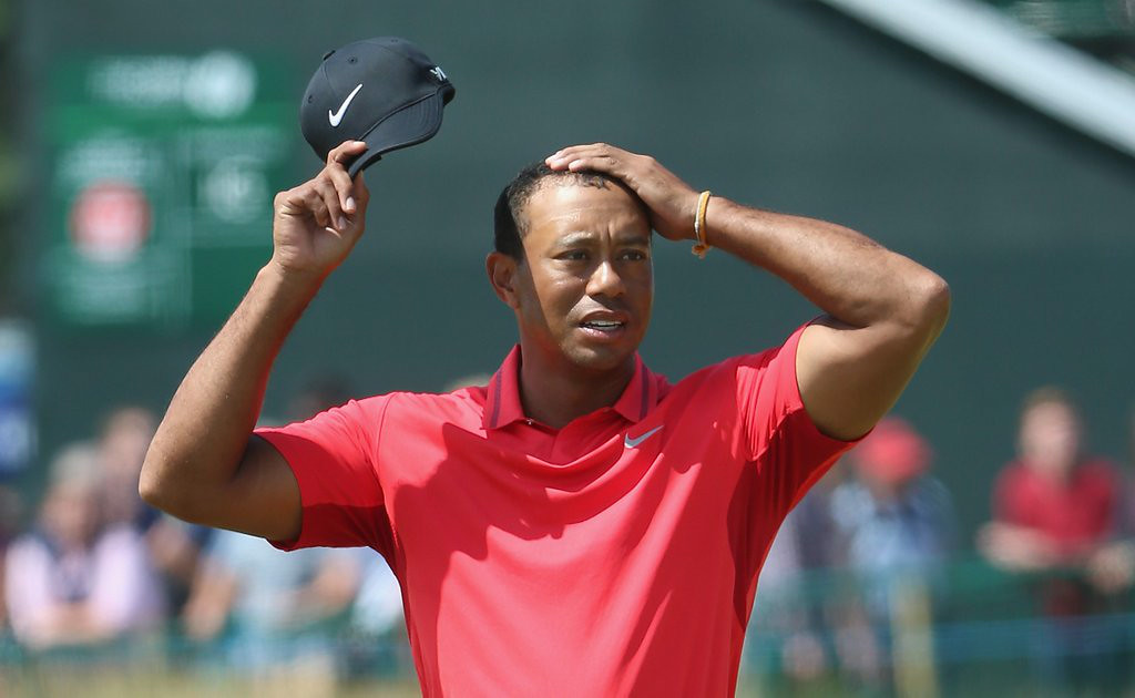 """. 10. (tie) TIGER WOODS <p>His hairline ain�t the only thing rapidly receding. (unranked) </p><p><b><a href=\""""http://ftw.usatoday.com/2014/07/tiger-woods-has-accepted-hes-going-bald-and-cant-stop-it\"""" target=\""""_blank\""""> LINK </a></b> </p><p>    (Andrew Redington/Getty Images)</p>"""