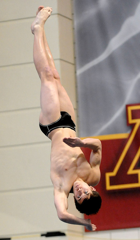 . Simley (Inver Grove Heights) High School\'s Nathan Stone placed sixth in the Diving competition. (Pioneer Press: Sherri LaRose-Chiglo)