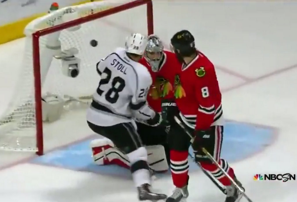 ". 2. NICK LEDDY <p>Probably always dreamed of scoring a series-winning goal � just not for the opposing team. (unranked) <p><b><a href=\'http://articles.chicagotribune.com/2014-06-02/sports/ct-last-goal-blackhawks-kings-spt-0602-20140602_1_alec-martinez-nick-leddy-duncan-keith\' target=""_blank\""> LINK </a></b> <p>   (Screen grab from YouTube)"