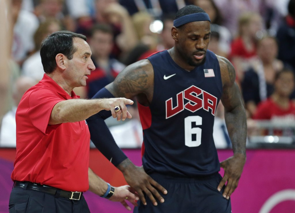 """. <p><b> Duke coach Mike Krzyzewski, opening up on his plans for the future, said he expects to do this for five more years � </b> <p> A. Coach the Blue Devils <p> B. Lead the U.S. Olympics <p> C. Use the Jet Black formula of Just For Men <p><b><a href=\' http://abcnews.go.com/Sports/coach-years/story?id=23082051\' target=\""""_blank\"""">HUH?</a></b> <p>    (AP Photo/Charles Krupa, File)"""