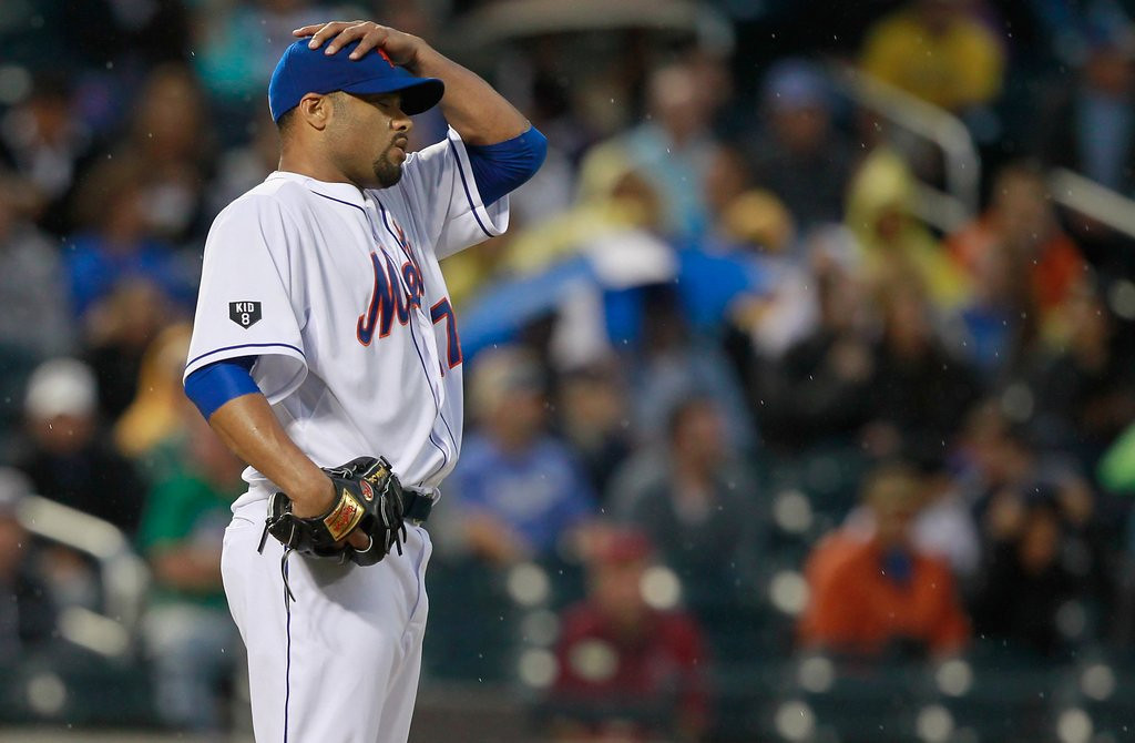 ". <p>6. JOHAN SANTANA <p>Probably can�t pitch anymore, making him the perfect addition to the Twins� staff. (6) <p><b><a href=\'http://nypost.com/2014/02/25/santana-barely-cracks-80-mph-in-workout-with-yankees/\' target=""_blank\""> HUH?</a></b> <p>    (Mike Stobe/Getty Images)"