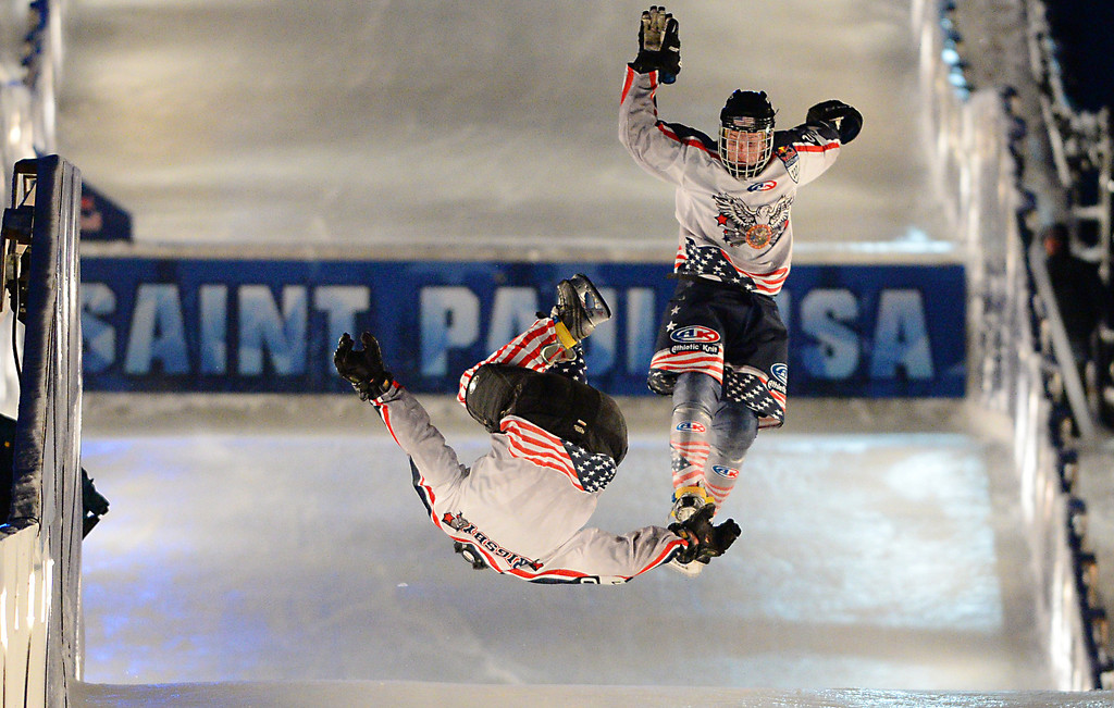 ". <p><b> Some wintertime history was made in St. Paul when a record crowd of 120,000� </b> <p> A. Watched the Crashed Ice competition <p> B. Attended TwinsFest <p> C. Was parked on Interstate 94 during Friday�s rush hour <p><b><a href=\' http://www.twincities.com/localnews/ci_25209342/two-minnesotans-make-crashed-ice-finals-before-record\' target=""_blank\"">HUH?</a></b> <p>   .(Pioneer Press: John Autey)"