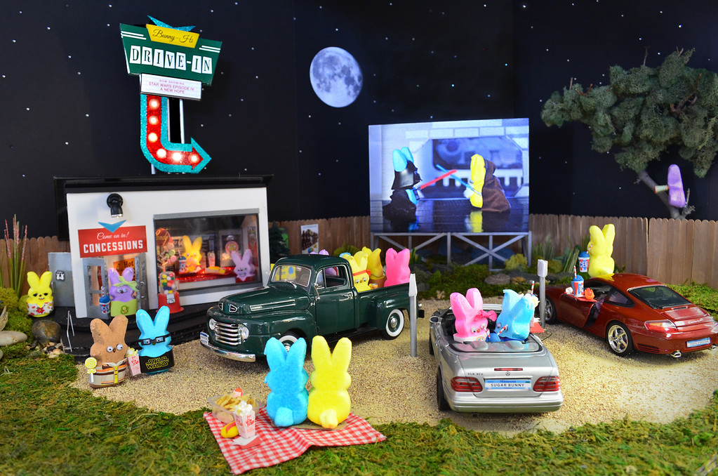 """. <b>THIRD PLACE:</b> \""""Bunny-Hi Drive-in Theater,\"""" by Nicole Von Ruden, Cathy Rose and Kari Pederson"""
