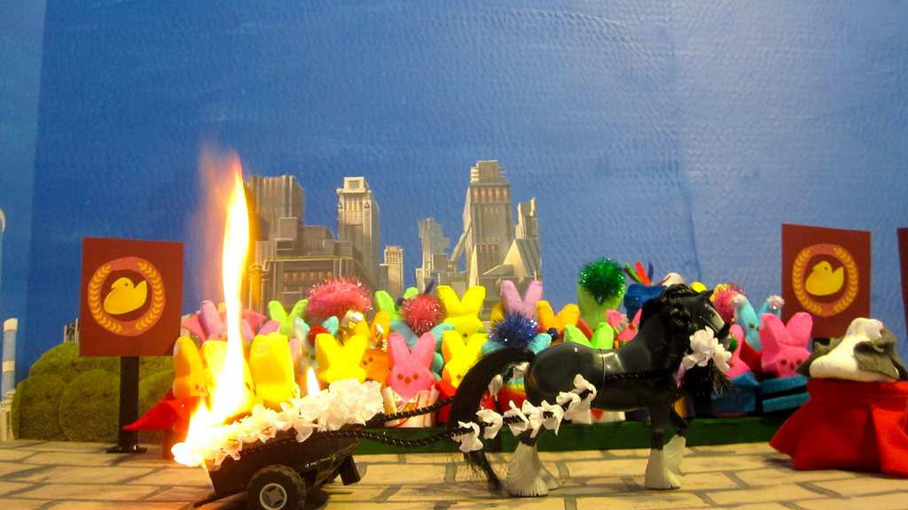 ". ""Peeps On Fire,\"" by  Christa Nordlum of New Brighton"