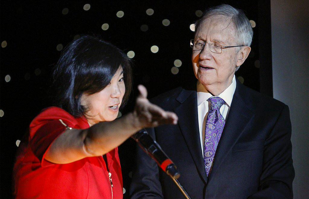 ". 4. HARRY REID <p>Senate leader partly correct in that all Asians ARE smarter than him. (unranked) </p><p><b><a href=\""http://dailycaller.com/2014/08/22/harry-reid-jokes-about-asians-video/\"" target=\""_blank\""> LINK </a></b> </p><p>    (AP Photo/Las Vegas Review-Journal, Erik Verduzco)</p>"