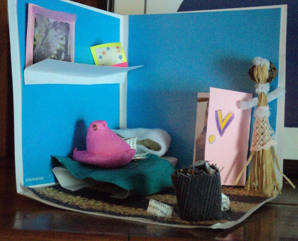""". \""""The Bedroom by Vincent van Peep,\"""" by Melissa Griffen, Chetek, Wis."""