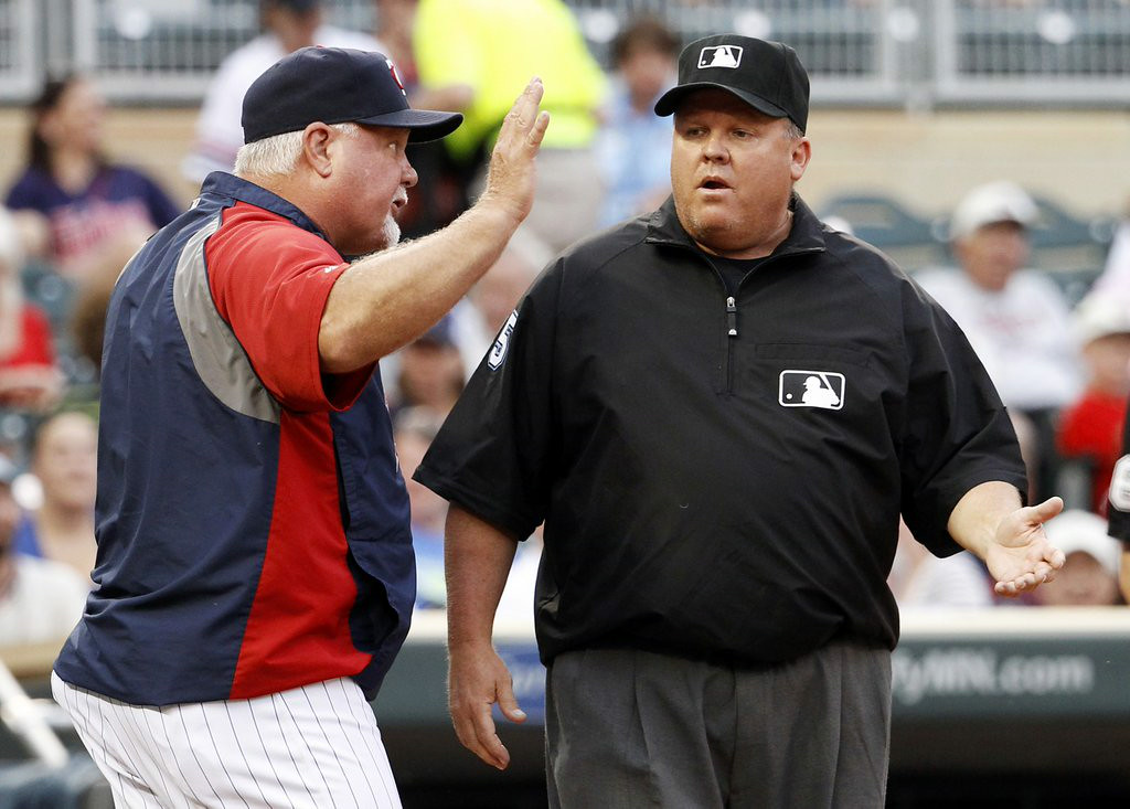 ". 7. (tie) RON GARDENHIRE <p>Umpires will not stand for his �check the ball� blasphemy. (unranked) </p><p><b><a href=""http://blogs.twincities.com/twins/2014/08/19/twinsights-check-ball-got-gardenhire-ejected/\"" target=\""_blank\""> LINK </a></b> </p><p>    (AP Photo/Ann Heisenfelt)</p>"