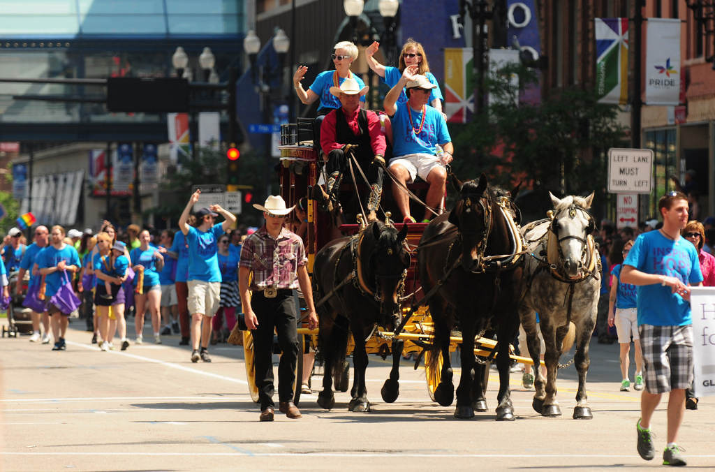 . The Wells Fargo stagecoach took part in the annual Twin Cities Pride Parade. (Pioneer Press: Scott Takushi)