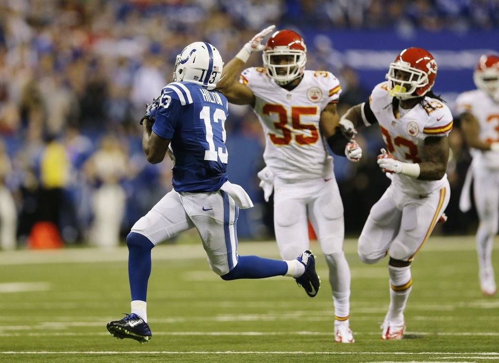 """. <p>8. KANSAS CITY CHIEFS <p>Only now realizing it might be a decent idea to cover T.Y. Hilton. (4) <p><b><a href=\'http://www.twincities.com/breakingnews/ci_24847431/luck-rallies-indy-45-44-playoff-win-over\' target=\""""_blank\""""> HUH?</a></b> <p>   (AP Photo/Michael Conroy)"""