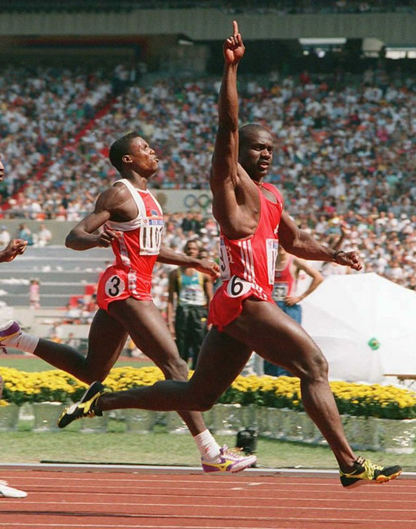 """. <p><b> Disgraced Olympic sprinter Ben Johnson made news last week when he said of this person, �He is not a man� � </b> <p> A. Carl Lewis  <p> B. Usain Bolt  <p> C. Chaz Bono  <p><b><a href=\'http://olympictalk.nbcsports.com/2013/09/13/ben-johnson-carl-lewis-doping-track-and-field/\' target=\""""_blank\"""">HUH?</a></b> <p>   (Romeo Gacad/AFP/Getty Images)"""