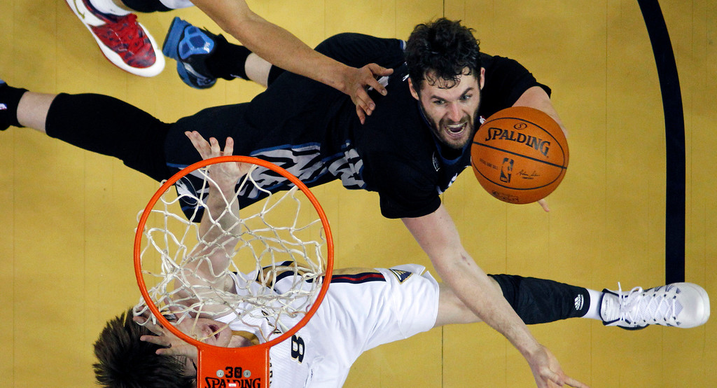 ". <p><b> Star Timberwolves forward Kevin Love raised eyebrows across the NBA by pointing out the Wolves have a �better team � better foundation� than the � </b> <p> A. Los Angeles Lakers <p> B. Los Angeles Clippers <p> C. Washington Generals <p><b><a href=\'http://www.twincities.com/timberwolves/ci_25181696/timberwolves-love-says-hes-staying-minnesota\' target=""_blank\"">HUH?</a></b> <p>  (AP Photo/Gerald Herbert)"