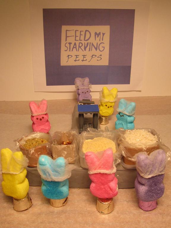 ". \""Feed my Starving Peeps,\"" by Gail Haglund, New Brighton"