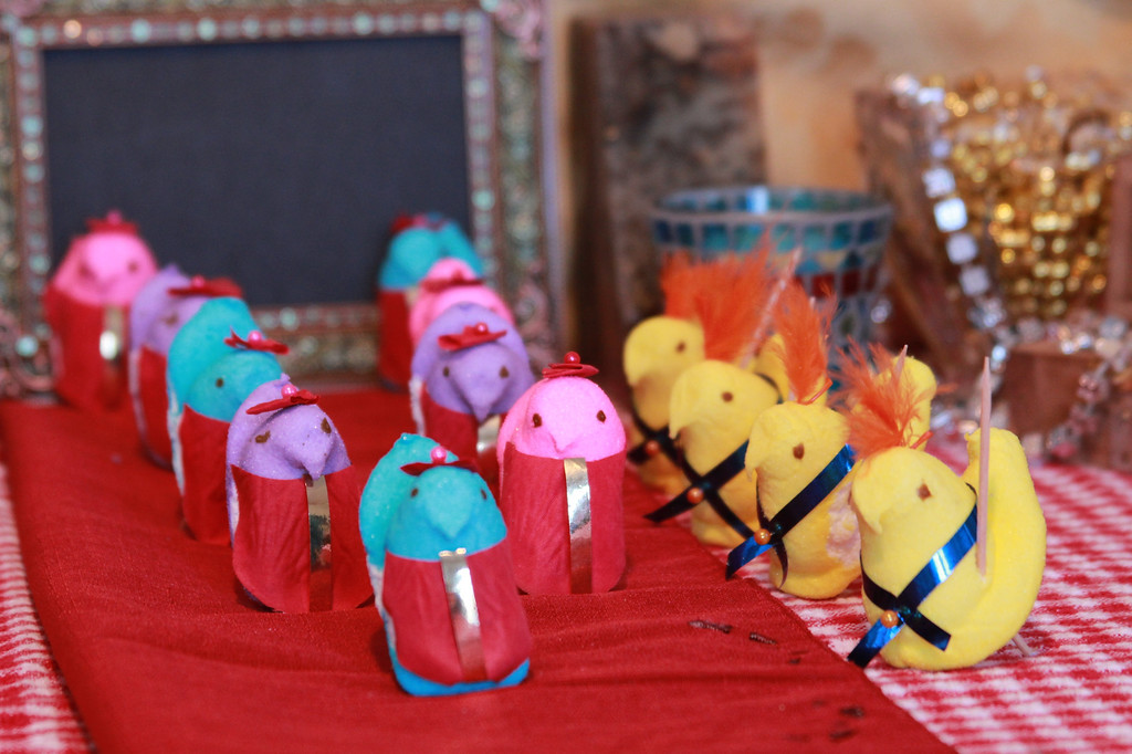 """. \""""Peeps conclave,\"""" by Sue Baugus, White Bear Lake, and daughter Erin"""