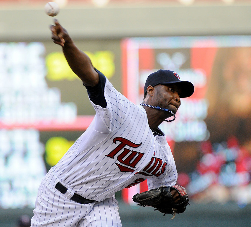 . Twins starter Samuel Deduno delivers a pitch against the Yankees during the second inning  Tuesday, July 2, 2013, at Target Field. New York won 7-3. (Pioneer Press: John Autey)