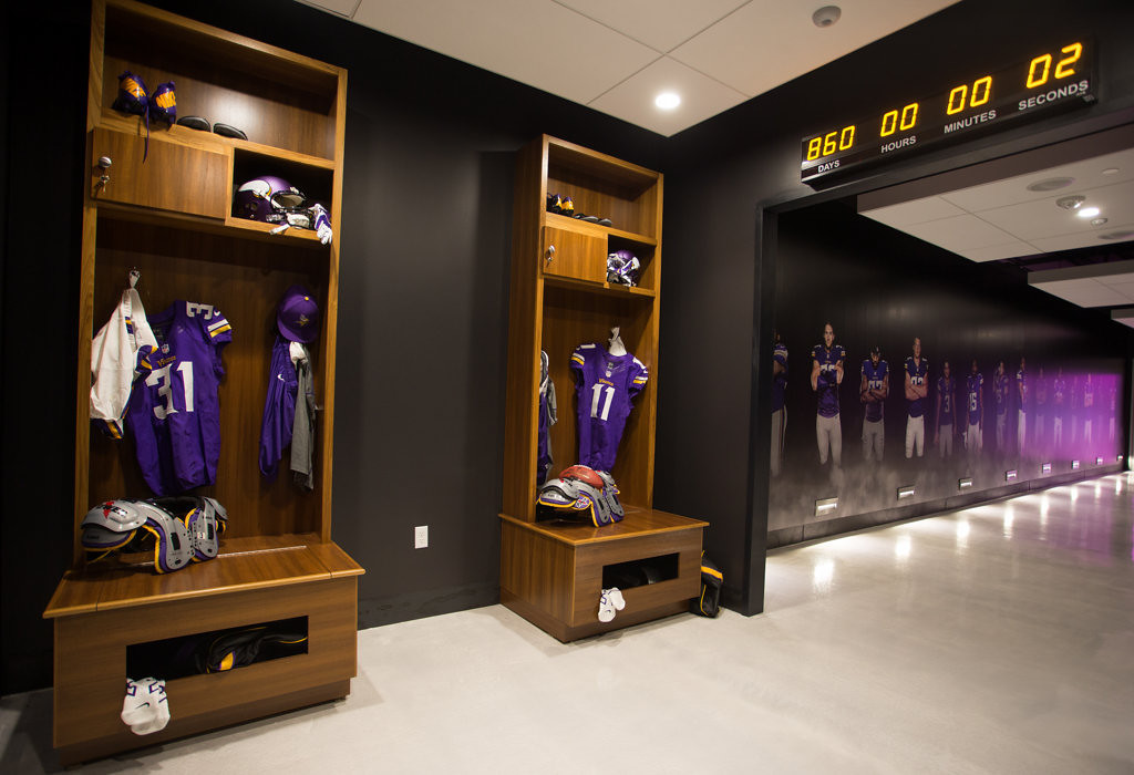 . The Preview Center will offer Viking fans a first look at future game experiences within the new stadium, set to  open in 2016. (Photo courtesy of the  Minnesota Vikings)