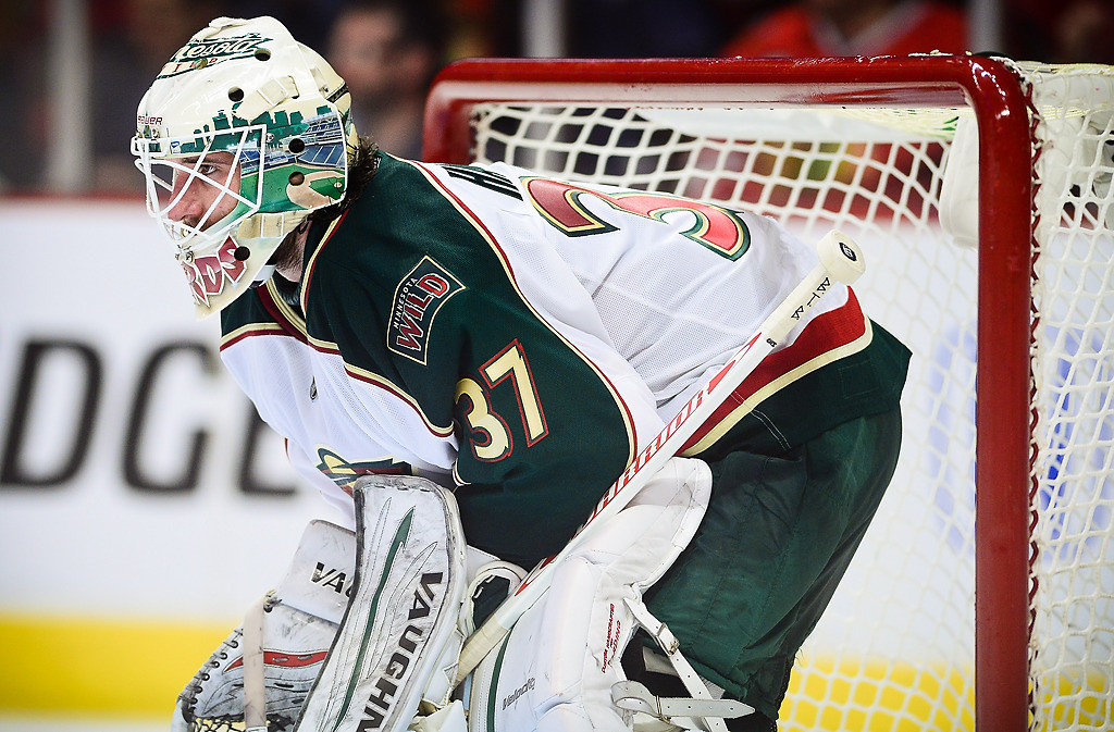 . Minnesota Wild goalie Josh Harding during the second period. (Pioneer Press: Ben Garvin)