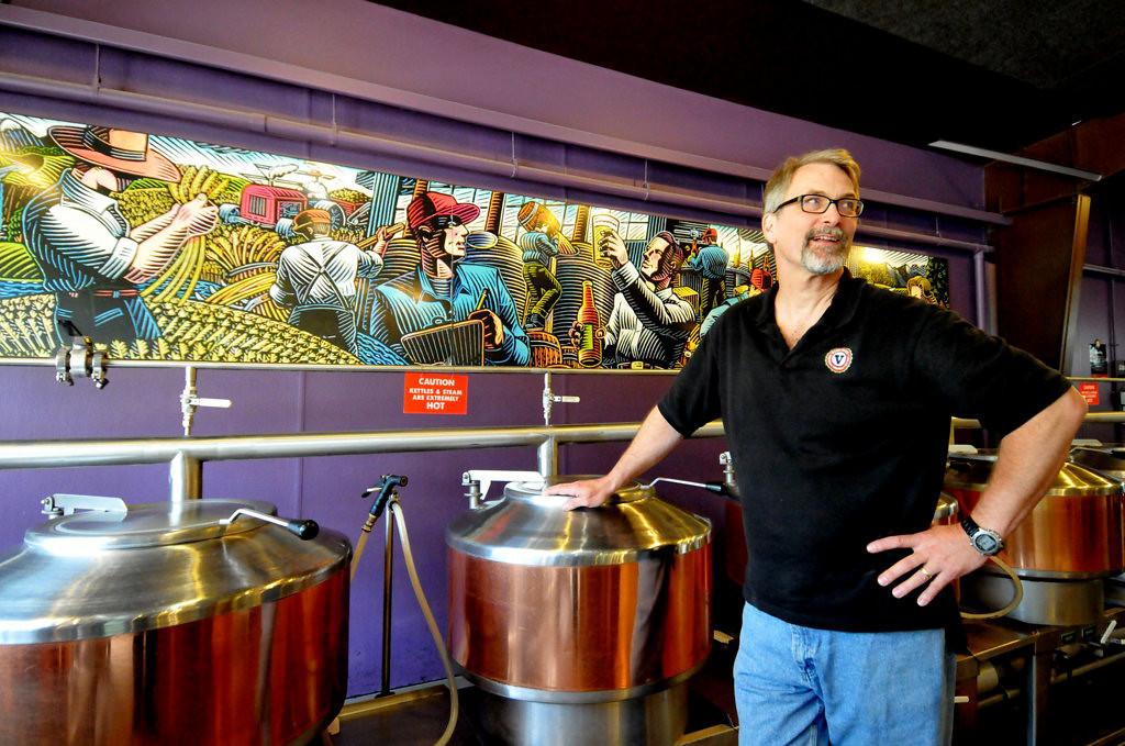 . Dan Justesen, president of the Minnesota Craft Brewers Guild, at his Vine Park Brewery. (Pioneer Press: John Doman)