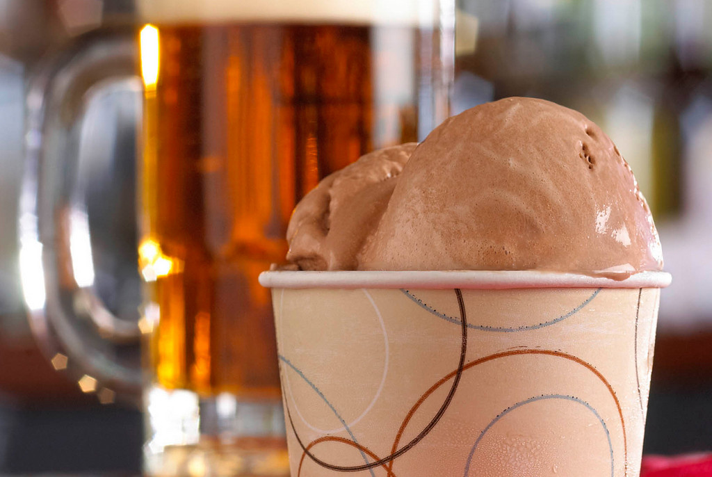 . Beer Gelato � Made fresh daily on-site, this rich, smooth and creamy gelato is blended with local craft beer. At Mancini\'s Al Fresco, on Carnes Avenue near Nelson Street. (Courtesy of Minnesota State Fair)
