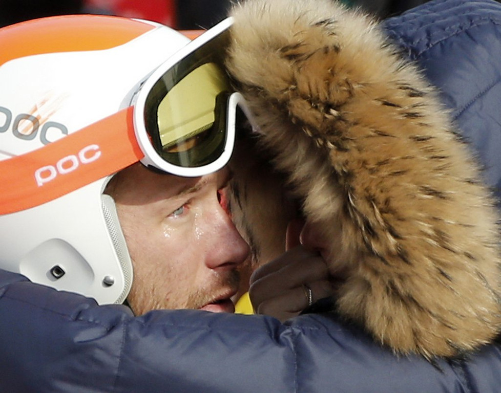 """. <p><b> NBC reporter Christin Cooper was heavily criticized Sunday after she drove U.S. skier Bode Miller to tears by � </b> <p> A. Asking him about his recently deceased brother <p> B. Bringing up his history of alcohol and drug abuse <p> C. Showing him a picture of Bob Costas� eyes <p><b><a href=\'http://www.nytimes.com/2014/02/17/sports/olympics/nbc-pushes-too-far-in-bringing-bode-miller-to-tears.html\' target=\""""_blank\"""">HUH?</a></b> <p>   (AP Photo/Christophe Ena)"""
