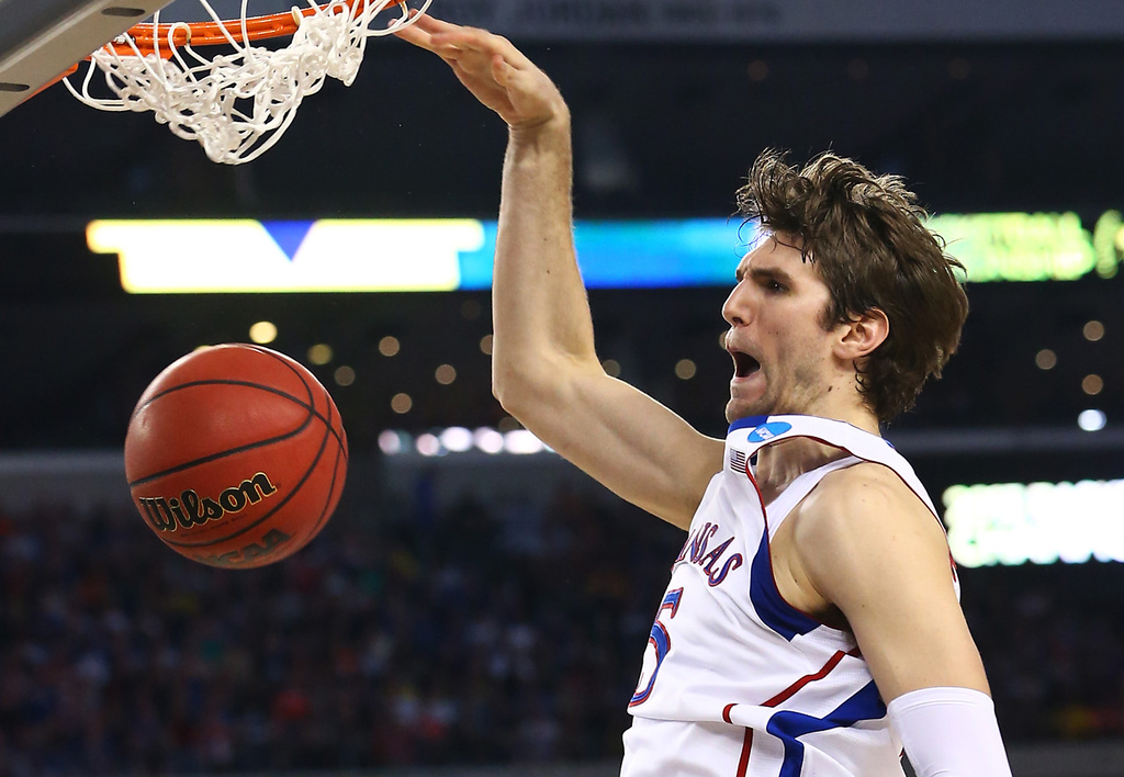. 29.) Oklahoma City Thunder -- Jeff Withey, center, Kansas -- The 7-footer showed he was even more valuable at times than McLemore, a top-five pick. Withey is mature enough to be a reliable role player with his defense and rebounding.   (Photo by Ronald Martinez/Getty Images)