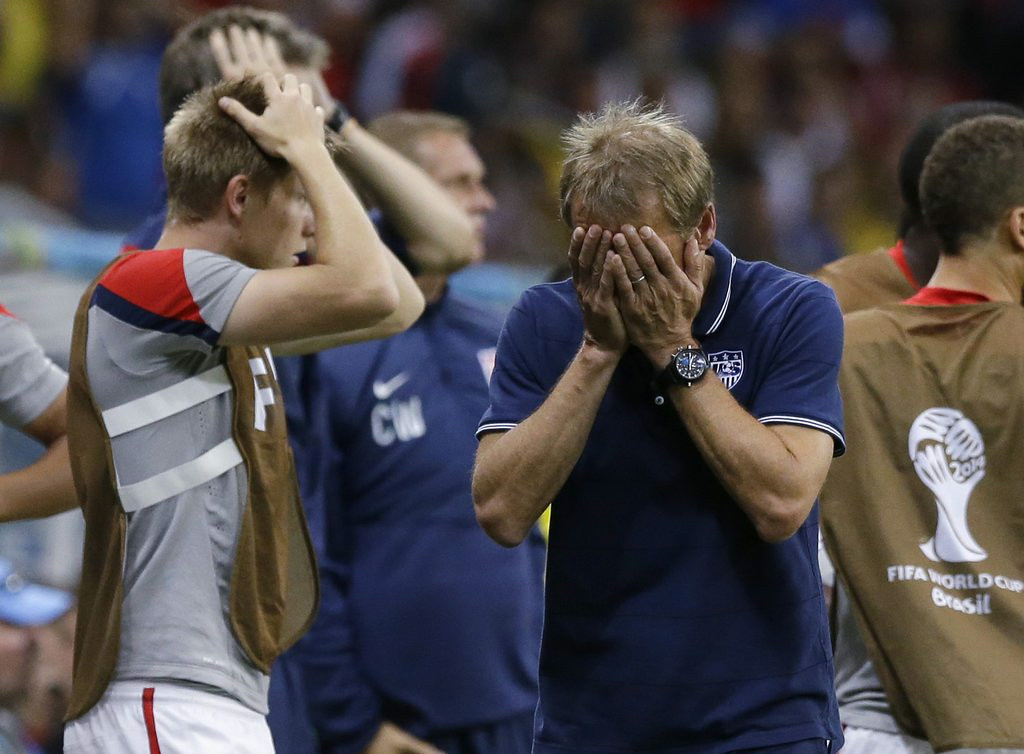 """. 1. SOCCER <p>Congratulations, sports fans! You are now free to ignore �The Beautiful Game� for another four years!   <p><b><a href=\'http://www.twincities.com/sports/ci_26070325/world-cup-belgium-holds-beat-u-s-2\' target=\""""_blank\""""> LINK </a></b> <p>    (AP Photo/Matt Dunham)"""