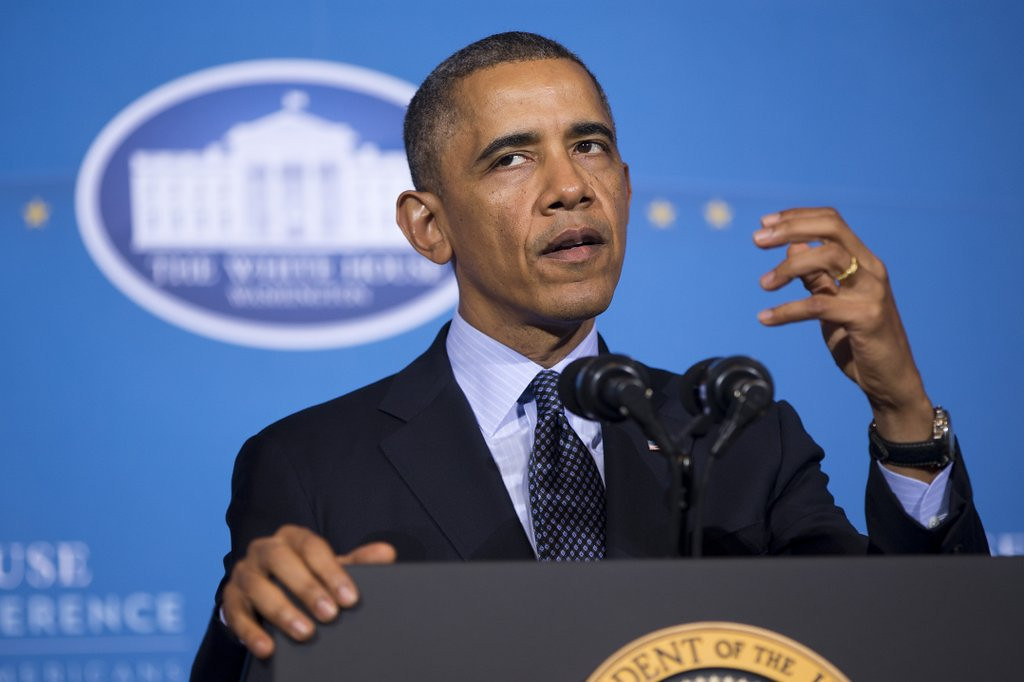 ". <p><b> President Obama admitted Tuesday that, with Russian forces controlling Crimea, these have not had much effect on ending the crisis � </b> <p> A. U.S. sanctions <p> B. Protests from European leaders <p> C. Obama�s NCAA tournament picks <p><b><a href=\'http://www.washingtontimes.com/news/2014/mar/25/obama-doubts-russian-retreat-ukraine/\' target=""_blank\"">HUH?</a></b> <p>    (AP Photo/ Evan Vucci)"
