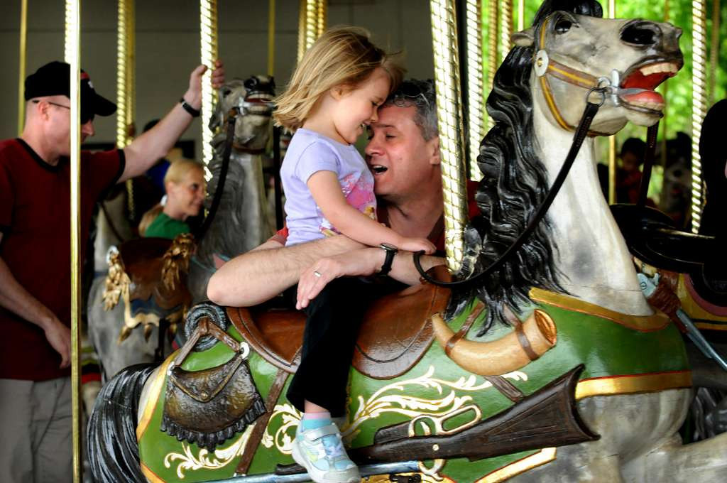 . You betcha, I must take my favorite 2-year-old to Como to ride the carousel. It�s magical. And, of course, I won�t let her ride alone. This must be followed by ice cream, the nearby Dairy Queen at Lexington and Larpenteur, because I love the classic building. <p>-- By A&E team leader Kathy Berdan <p>-- Photo by Jean Pieri, Pioneer Press