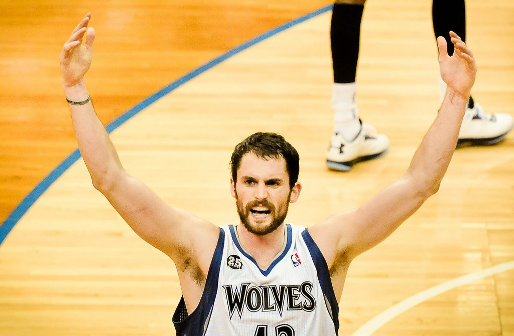 """. <p><b> The Cleveland Cavaliers reportedly are getting so desperate to add Kevin Love that, to get him, they�re willing to trade away � </b> </p><p> A. 2014 No. 1 draft pick Andrew Wiggins </p><p> B. 2013 No. 1 draft pick Anthony Bennett </p><p> C. 2003 No. 1 draft pick LeBron James </p><p><b><a href=\""""http://www.twincities.com/sports/ci_26167591/lebron-james-eyes-timberwolves-kevin-love-cavs\"""" target=\""""_blank\"""">LINK</a></b> </p><p>    (Pioneer Press: Ben Garvin)</p>"""