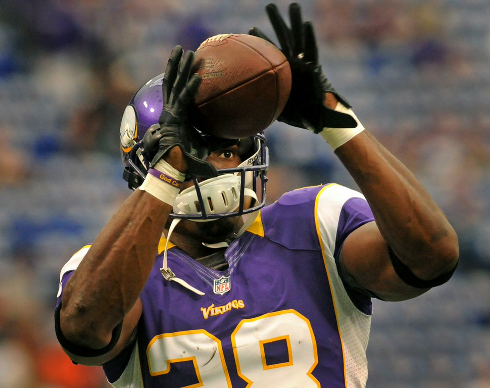 ". <p><b> Vikings fans who have caught a glimpse of Adrian Peterson�s hands during training camp have seen that the star running back is � </b> </p><p> A. Married </p><p> B. Engaged </p><p> C. Still a mediocre pass catcher </p><p><b><a href=""http://www.twincities.com/vikings/ci_26210797/vikings-adrian-peterson-married-and-ready-roll?source=rss\"" target=\""_blank\"">LINK</a></b> </p><p>   (Pioneer Press: Sherri LaRose-Chiglo)</p>"
