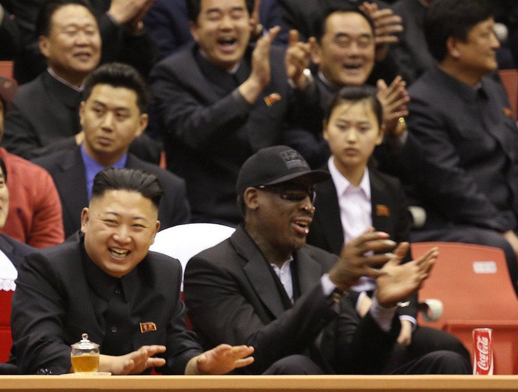 """. <p>3. (tie) DENNIS RODMAN <p>Hopes to improve North Korean basketball team�s execution. And to prevent it. (unranked) <p><b><a href=\'http://world.time.com/2013/12/14/dennis-rodman-returns-to-n-korea-to-train-basketball-team/\' target=\""""_blank\""""> HUH?</a></b> <p>   (AP Photo/VICE Media, Jason Mojica)"""