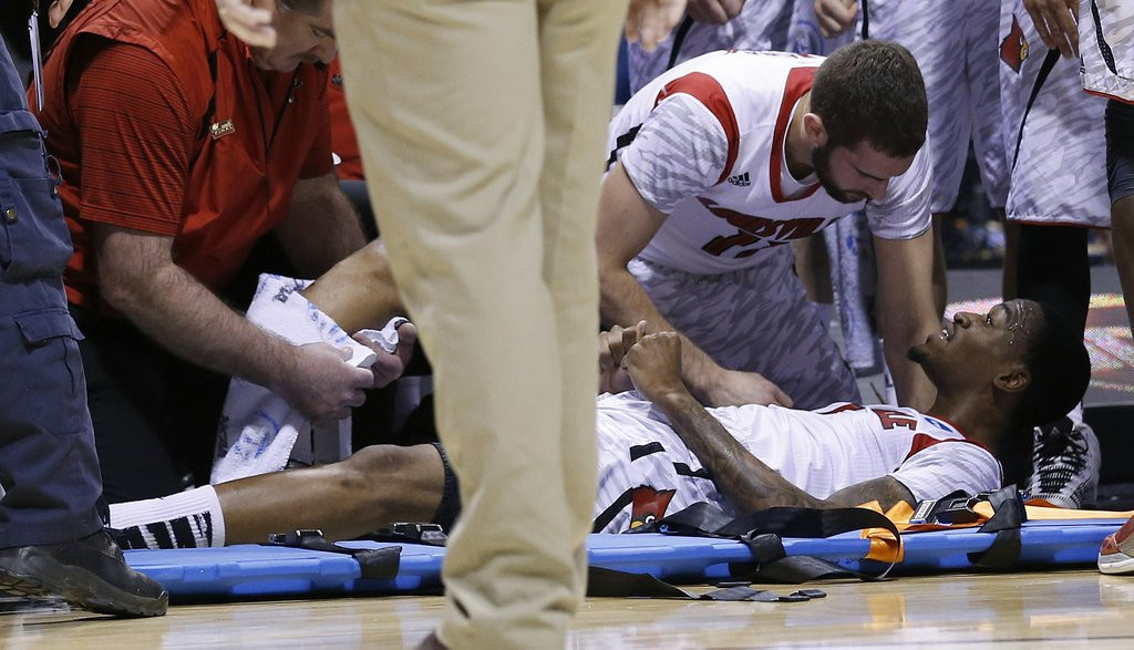 """. <p>39. KEVIN WARE <p>When his leg snapped in half on national television, he apparently forgot to wish for additional basketball talent. <p><b><a href=\'http://msn.foxsports.com/collegebasketball/story/louisville-kevin-ware-returns-from-leg-injury-110613\' target=\""""_blank\""""> HUH?</a></b> <p>    (Sam Riche/MCT)"""