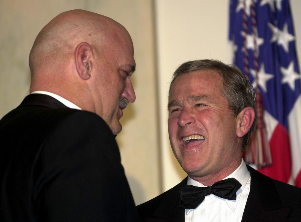. <p>11:11 A.M.  </p><p>Tunes in to Alex Jones� radio show. Laughs out loud when an idiot caller blames the 9-11 attacks on the wrong George Bush. </p><p>   (AP Photo/Susan Walsh)</p>