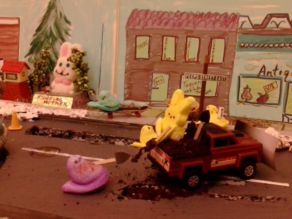 ". ""Peep Street Part 2: Road Crew fills potholes on Peep Street East,\"" by Sage Holben"