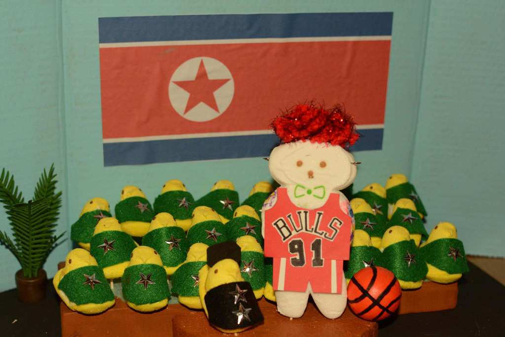 ". ""Dennis Rodman Visits Peepyongyang, North Korea,\"" by Jessie Garretson of Edina"