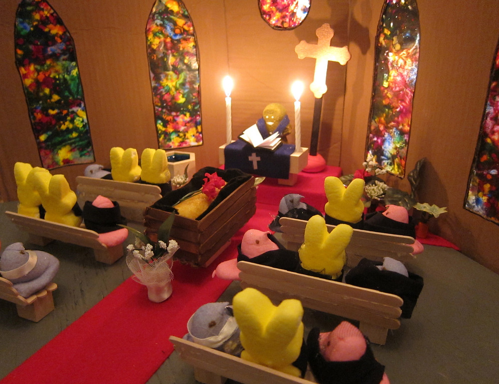 """. \""""Peeps\' Funeral for the Twinkie,\"""" by by Melissa Andersen, St. Paul"""