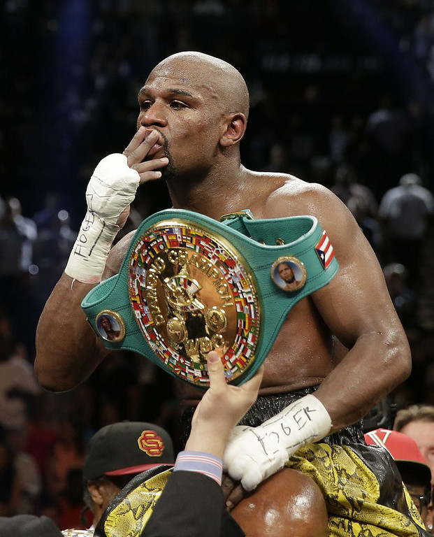 ". 7. FLOYD MAYWEATHER <p>How much sympathy should you have for illiterate millionaires? Uh � none? (5) </p><p><b><a href=""http://deadspin.com/this-is-painful-floyd-mayweather-struggles-to-read-a-b-1625617164\"" target=\""_blank\""> LINK </a></b> </p><p>   (AP Photo/Isaac Brekken)</p>"