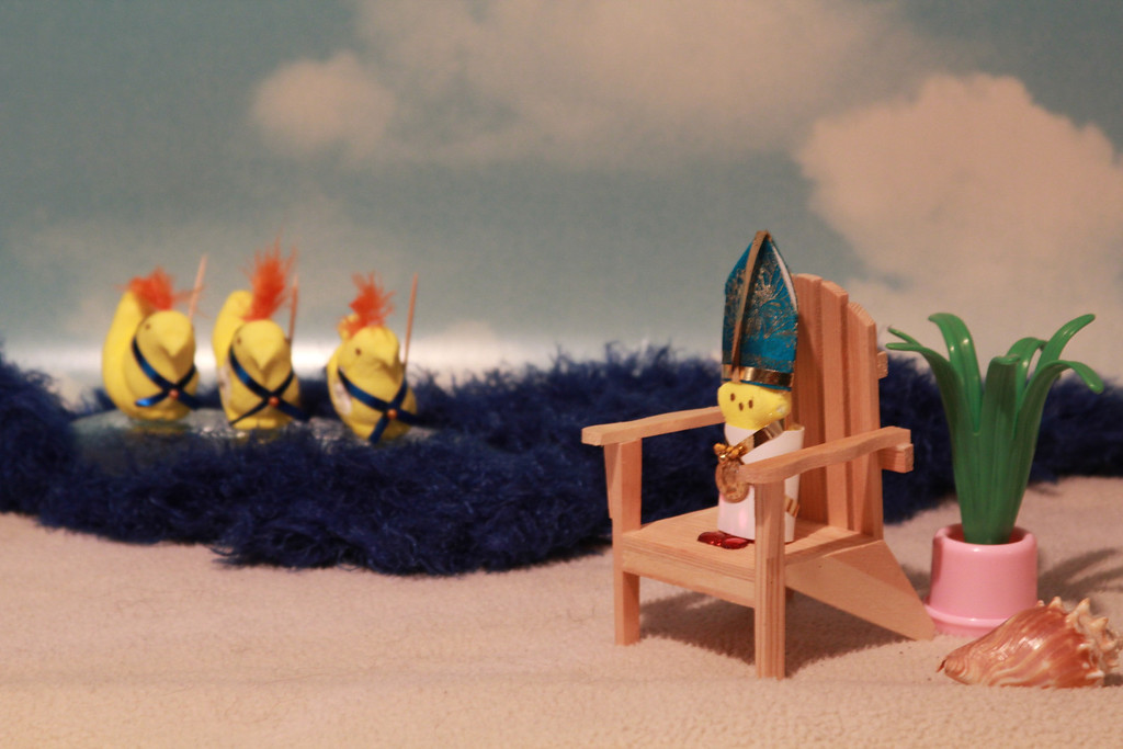 ". <b>HONORABLE MENTION:</b> ""St. Bunidickt at the Beach,\"" by Sue Baugus of White Bear Lake and Erin Baugus Simle of St. Paul"