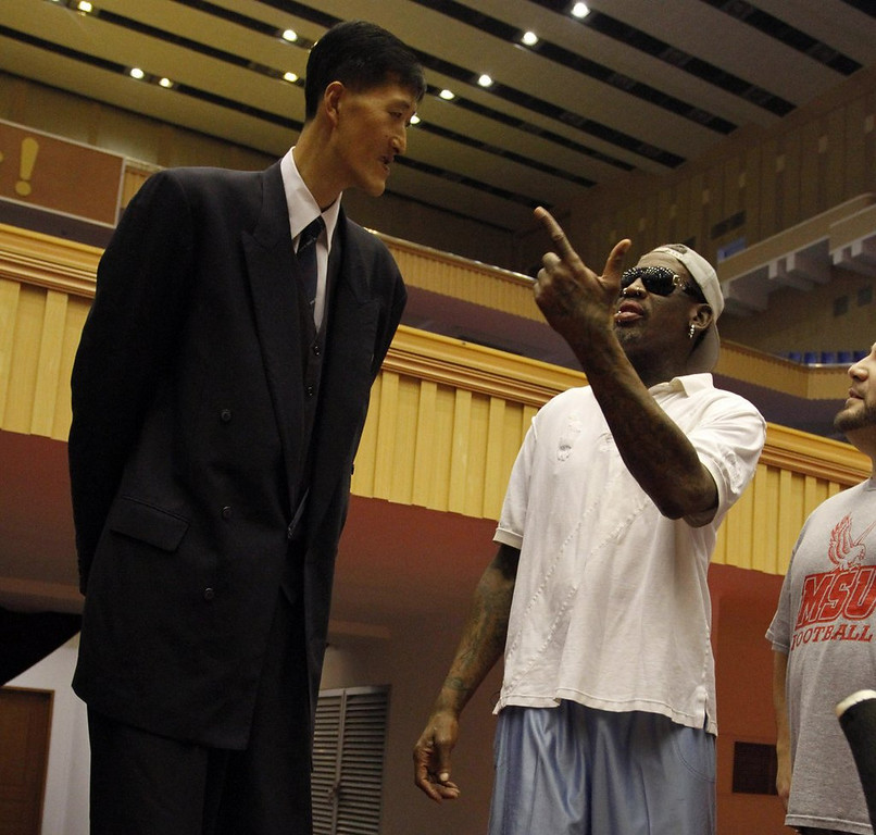 ". <p>10. (tie) DENNIS RODMAN <p>Judging from his CNN interview, this North Korea junket is being sponsored by a lot of vodka and gin. (4) <p><b><a href=\'http://www.twincities.com/sports/ci_24860482/north-korea-ex-nba-player-sorry-he-joined\' target=""_blank\""> HUH?</a></b> <p>    (AP Photo/Kim Kwang Hyon)"