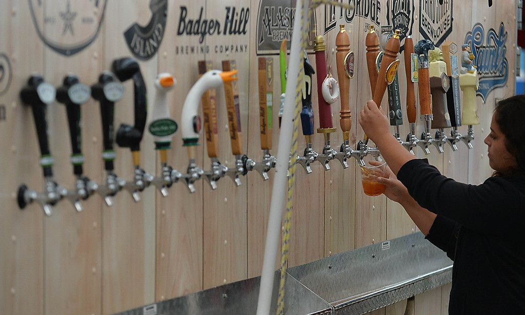 . Plenty of craft beer was on sale at the last Saints game at Midway Stadium. (Pioneer Press: Ben Garvin)