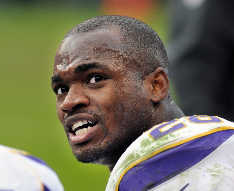 ". <p><b> Vikings running back Adrian Peterson showed how he truly feels about his blockers by giving each of his offensive linemen a � </b> <p> A. Snowmobile <p> B. Brand new car <p> C. Swift kick in the ass <p><b><a href=\'http://www.cbssports.com/nfl/eye-on-football/24147863/vikings-rb-adrian-peterson-rewards-oline-for-2012-with-snowmobiles\' target=""_blank\"">HUH?</a></b> <p>     (Pioneer Press: Chris Polydoroff)"