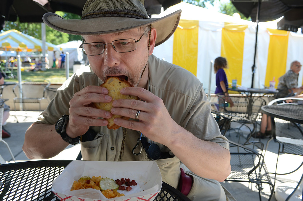 . Chop dog: �It�s kind of like a sloppy joe. It�s a very nice combination of all the foods at a family barbecue in one. You need lots of napkins for this one,� said Peter Stucki of Roseville. (Pioneer Press: C.J. Sinner)