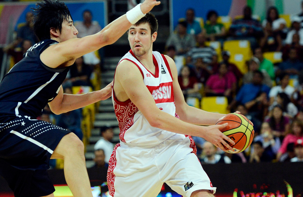 . 18.) Atlanta Hawks -- Sergey Karasev, shooting guard, Russia -- Karasev makes it two international prospects in a row in this draft. He should be able to help the Hawks right away with his long-range shooting and experience against top-level competition.  (JUAN BARRETO/AFP/GettyImages)