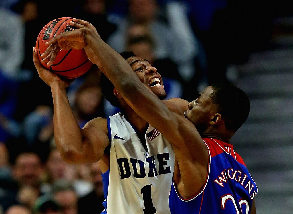 """. <p>10. (tie) JABARI PARKER & ANDREW WIGGINS <p>Tournament showed neither is remotely ready for NBA. But that won�t keep them out of draft. (previous ranking: unranked) <p><b><a href=\'http://blacksportsonline.com/home/2014/03/charles-barkley-wiggins-jabari-arent-ready-to-play-against-grown-men/\' target=\""""_blank\""""> HUH?</a></b> <p>    (Jonathan Daniel/Getty Images)"""