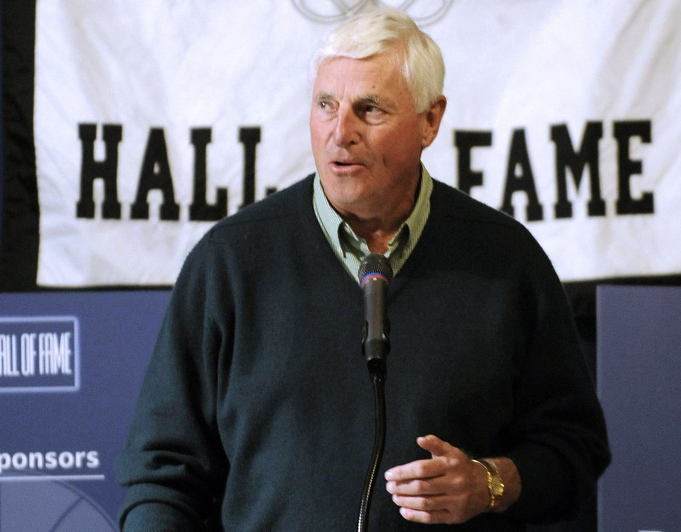 """. <p>10. (tie) BOBBY KNIGHT <p>The bully coach gets old, but his charming rape allusions never do. (unranked) <p><b><a href=\'http://nba.si.com/2014/03/25/bob-knight-nba-ncaa-raped-one-and-done/\' target=\""""_blank\""""> HUH?</a></b> <p>   (AP Photo/Tom Strickland, File)"""